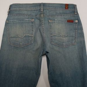7 for all Mankind Jeans Size 28 Bootcut Light Wash